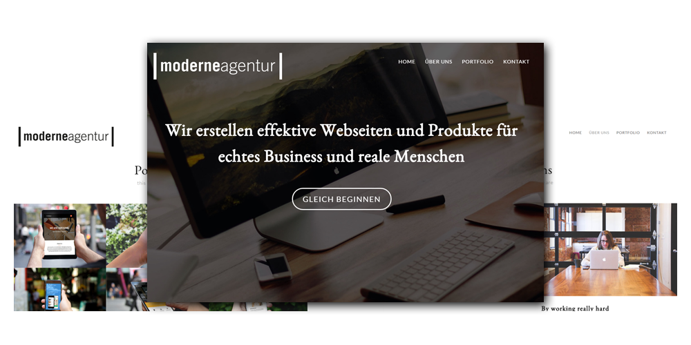 Page Example Moderne Agentur